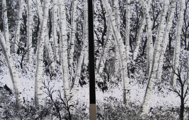 Silver Birch Tree Painting