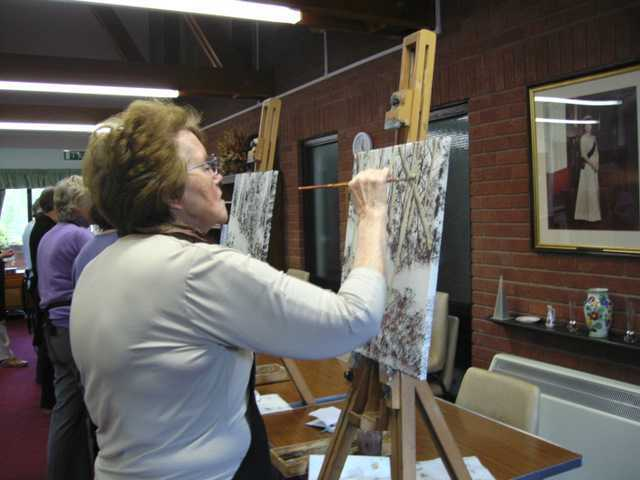 art class in shropshire learn to paint